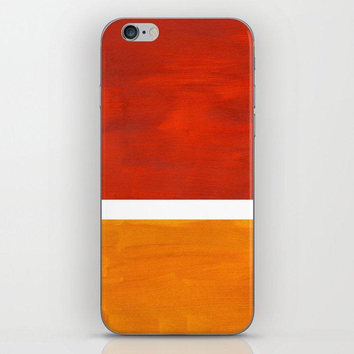 Burnt Orange Yellow Ochre Mid Century Modern Abstract Minimalist Rothko Color Field Squares iPhone Skin