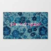 Spring Yeah! - Blue Flowers Canvas Print
