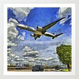 Airliner Vincent Van Gogh Art Print
