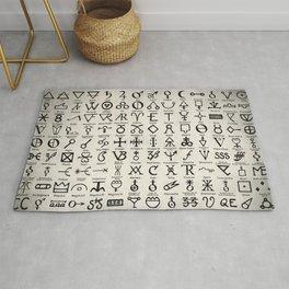 Symbols Of Alchemists Rug