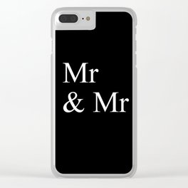Mr & Mr Monogram standard Clear iPhone Case