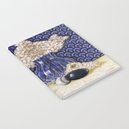"""""""Still life with Agate, Glass, Hydrangea, and Marble"""" Notebook"""