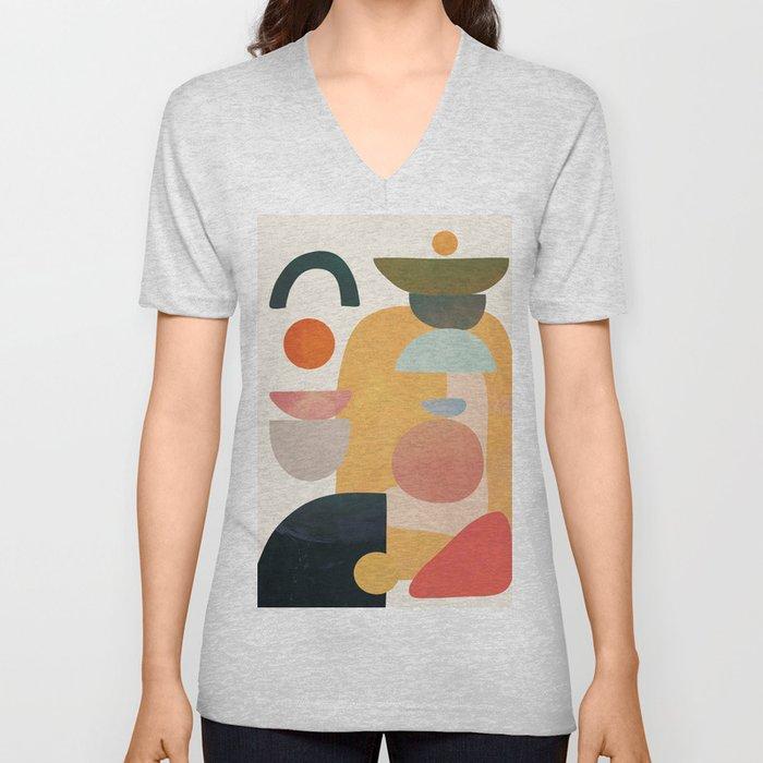 Modern Abstract Art 70 Unisex V-Neck