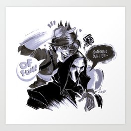 Tracer and Reaper Art Print