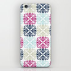 Floral Geometric - Navy & Pink iPhone & iPod Skin