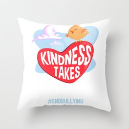 Kindness takes Courage Stop Bully Spread Love Throw Pillow
