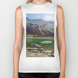 Medicine Lake in Jasper National Park, Canada Biker Tank