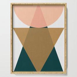 Modern and geometric art IX Serving Tray