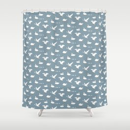 Summertime Swans Shower Curtain