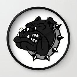 Black Bulldog Wall Clock