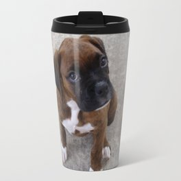 Inquisitive Boxer Pup Travel Mug
