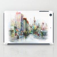 street iPad Cases featuring street by tatiana-teni