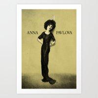 Anna Pavlova Art Print
