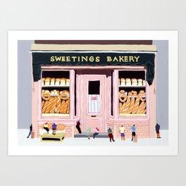 Sweetings Bakery Art Print