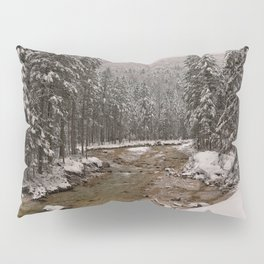 Wintry Sava River At Vrata Valley Pillow Sham