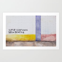 SuperNintendo SegaGenesis Art Print