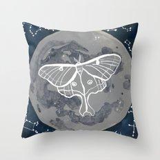 La Luna constellations & moon watercolor Throw Pillow