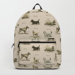 TERRIERS Dog pattern Backpack