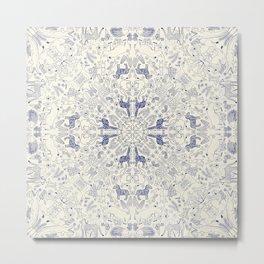 African Porcelain Metal Print