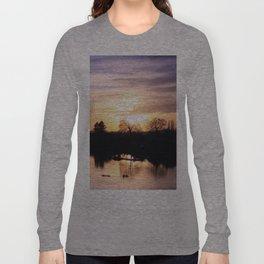 Floodplain at Sunset 4 Long Sleeve T-shirt