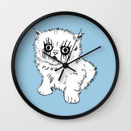 Black Metal Kitty Wall Clock