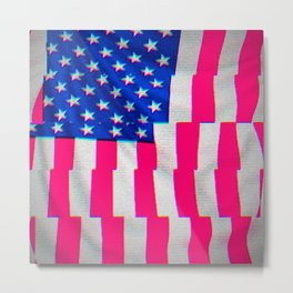 US Flag Metal Print
