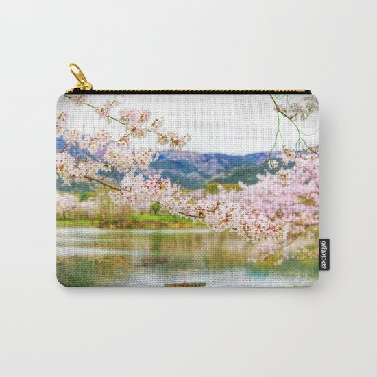 Beautiful cherry blossom and pond 2 Carry-All Pouch
