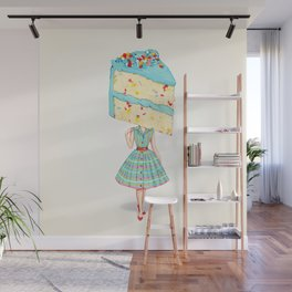 Cake Head Pin-Up: Funfetti Wall Mural