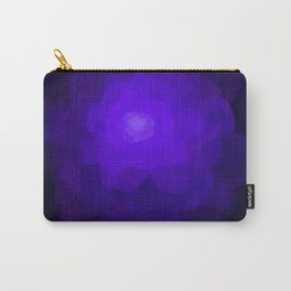 Glowing Blue Rose Emerging from  Darkness Carry-All Pouch
