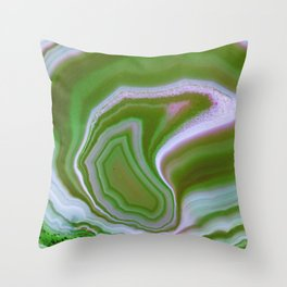 green colored agate Throw Pillow