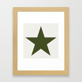 Vintage U.S. Military Star Framed Art Print