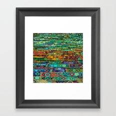 :: Technicolor Walkway :: Framed Art Print