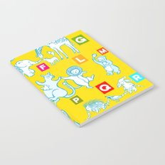Yellow Alphabet Notebook