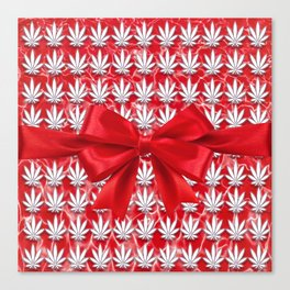 Merry Cannabis! Canvas Print
