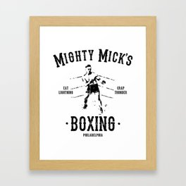 Mighy Mick's Boxing Framed Art Print