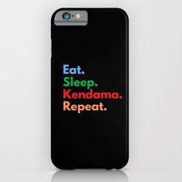 Eat. Sleep. Kendama. Repeat. iPhone Case