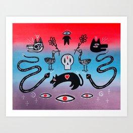 Voodoo Reflections #4 Art Print