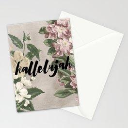 hallelujah vintage floral Stationery Cards