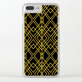 Chicago Cigar Bar Gold and Black Art Deco Clear iPhone Case