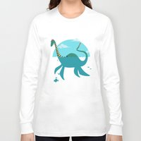 """earthbound Long Sleeve T-shirts featuring Loch""""Ness"""" Monster by Michael B. Myers Jr."""