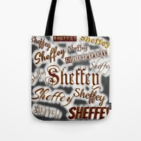 Sheffey Fonts - Gray and Bronze 9643 Tote Bag
