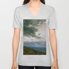 Johan Christian Dahl - Study Of Drifting Clouds - Digital Remastered Edition Unisex V-Neck