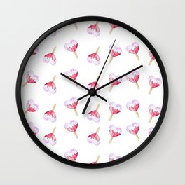 Heart Ice Cream Watercolor Wall Clock