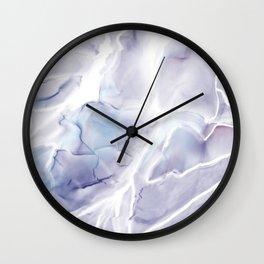 Watercolor marble texture Wall Clock