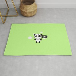 Panda Pirate with Flag T-Shirt for all Ages Da19o Rug