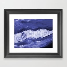 Paint 6 abstract water ocean arctic iceberg nature ocean sea abstract art drip waterfall minimal  Framed Art Print