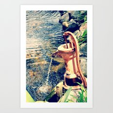 waterfountain2 Art Print