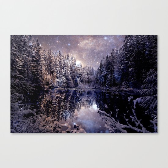 A Cold Winter's Night Neutral Canvas Print