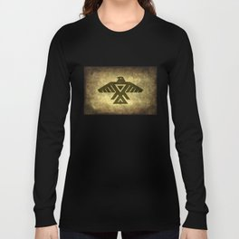 Symbol of the Anishinaabe, Ojibwe (Chippewa) on  parchment Long Sleeve T-shirt