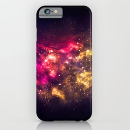 Abstract Nebula #1: Red iPhone Case